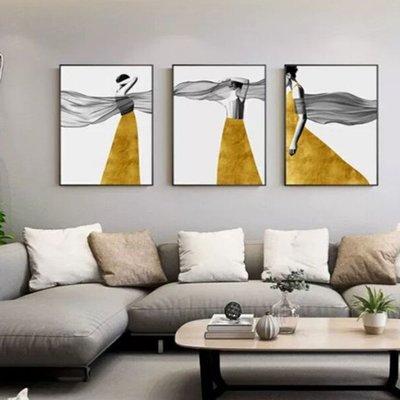 時尚新款復古玄關裝飾畫抽象時尚人物后現代過道掛畫北歐風格客廳餐廳豎版墻畫