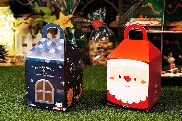 房子提盒_耶誕夜(藍)/耶誕大頭照(紅)_3-2973001/3-2973002◎提盒.蛋糕盒.手提.包裝盒.聖誕節