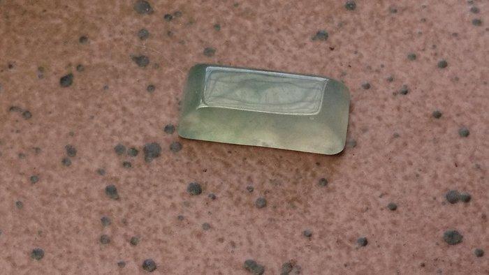 冰玻種放光長方型馬鞍戒面(設計款)~專賣緬甸A貨翡翠 冰種/玻璃種