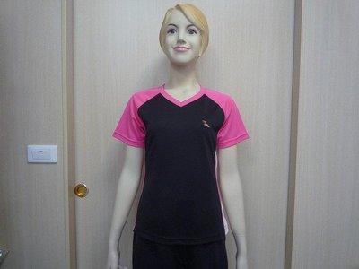 「喜樂屋戶外」台灣製V領T恤排汗衫排汗衣抗UV透氣、快乾、不黏身#H13005零碼任4件$1000 團體服訂製