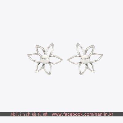 【韓Lin連線代購】韓國 TROIS ROIS - Silver Flower Earrin 925銀耳環 TU0005