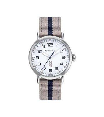 Nautica 中性手錶 NAPWLF921 Wakeland 40mm 銀色錶盤 nato手錶