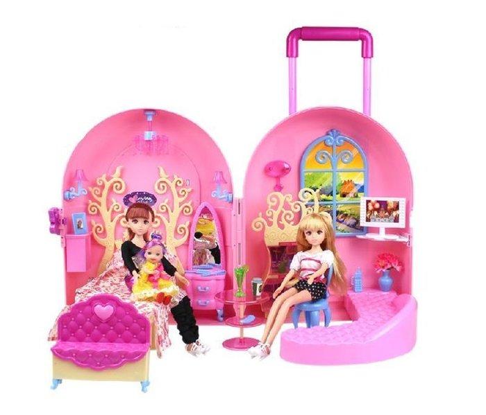 【易發生活館】新品2015最新熱銷芭比娃娃套裝禮盒甜甜屋芭比拉包芭比夢幻房間臥室組合芭比兒童過家家必選款 送家人 朋友禮物首選可批發