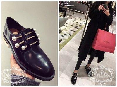 Modem Girl♥真皮 手工珍珠水鑽訂製牛津鞋 轉賣BFF80S 心田 EALOVE BABYWEWE 圭魚