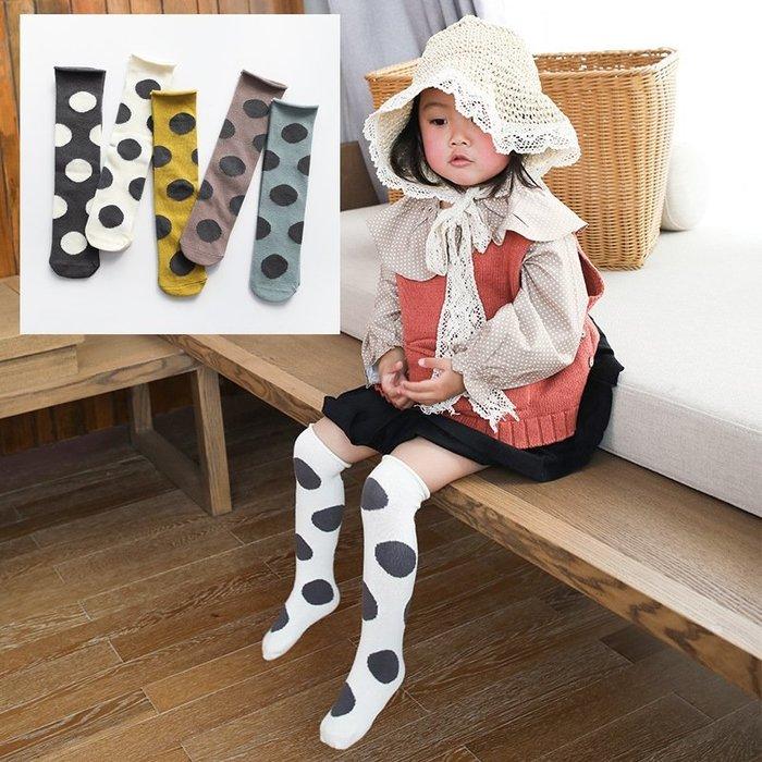 【小阿霏】兒童寶寶襪子 均碼 男孩女孩大波點鬆口中筒襪堆堆襪 女童男童長襪子 寶寶過膝襪PA143