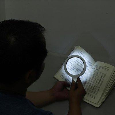 手持10倍放大鏡帶led燈老人閱讀高清...