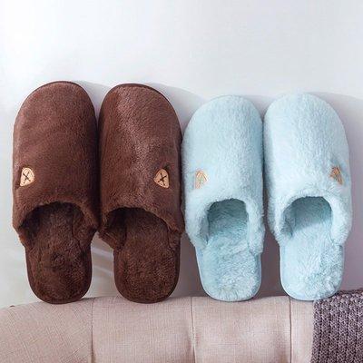 家居鞋 棉鞋冬季男士棉拖鞋女室內情侶家居家用防滑厚底軟底可愛保暖毛毛拖鞋