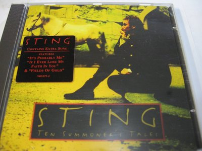 Sting/ Ten Summoner's Tales 自藏美版CD 法國製 1993年A&M出品