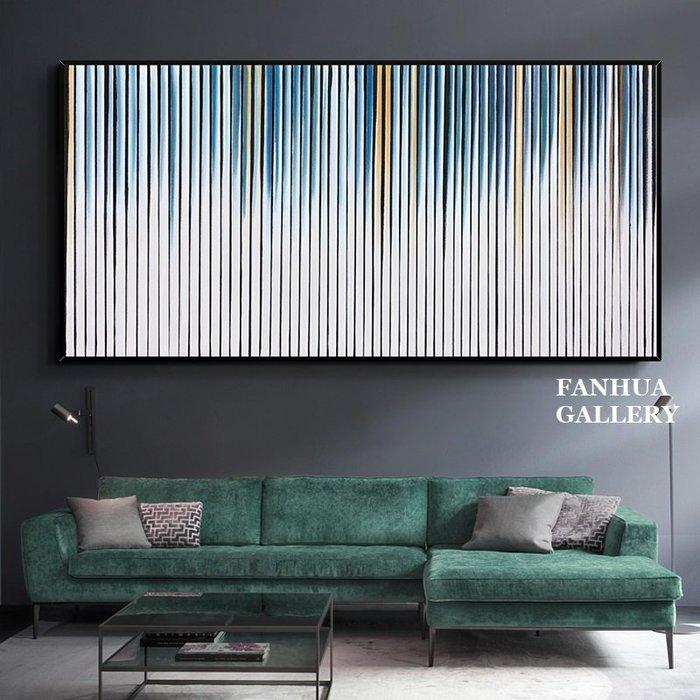 C - R - A - Z - Y - T - O - W - N 純手繪立體筆觸油畫時尚抽象幾何線條藝術掛畫橫幅手繪裝飾畫商空美學空間設計師款高檔手繪油畫掛畫