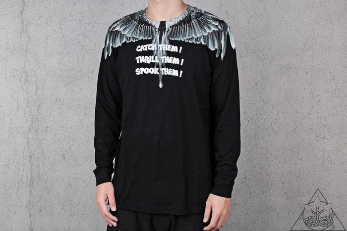 【HYDRA】Marcelo Burlon Catch Them L/S T-Shirt  翅膀 羽毛 長T【MB28】
