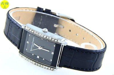 (六四三精品)范侖鐵諾(真品)日系潮流黑彩色澤手錶.附原廠手提袋!中性!二排鑽款!
