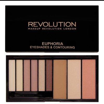 [任三免運]makeup revolution euphoria bare*/bronzed超值6色眼影加三合一修容