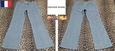 【J&K嚴選】法國 GERARD DAREL 牛仔褲 女款 曲線 修身 靴型 - 顏色:淺灰-33腰 42號【零碼特價】