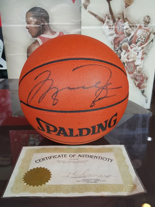 《金塊》MICHAEL JORDAN 簽名球 附證書 簽名籃球 老闆蒐藏