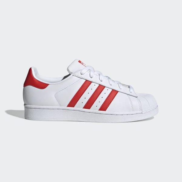 沃皮斯§Adidas Originals Superstar 白紅 貝殼 女段 CM8413