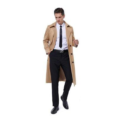 男西裝外套秋季風衣男長款韓版ins港風帥氣過膝披風外套男寬松超長英倫大衣風衣