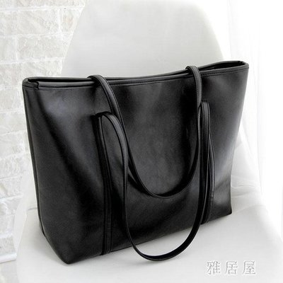 韓版復古潮女包購物袋簡約托特大包包手提包單肩包 YC449