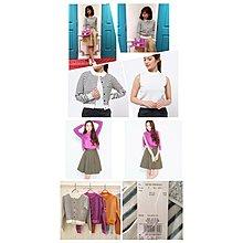 日本甜美大牌DAZZLIN 超值白色針織背心+條紋罩衫外套set兩件組 折扣特價in up