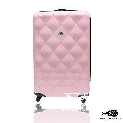 【格倫雅】^21吋Just Beetle輕硬殼鋼琴鏡面旅行箱防水360度行李箱PC登機