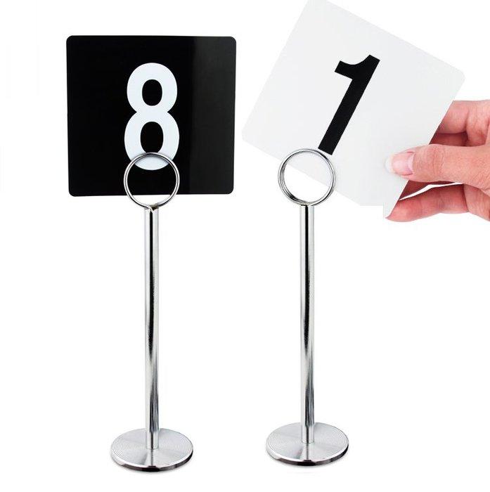 【無敵餐具】台灣製鋁製圓型桌號夾/號碼夾/桌牌/菜單架(45.7cm)另有其他尺寸 好用不鬆脫【CP030-1】