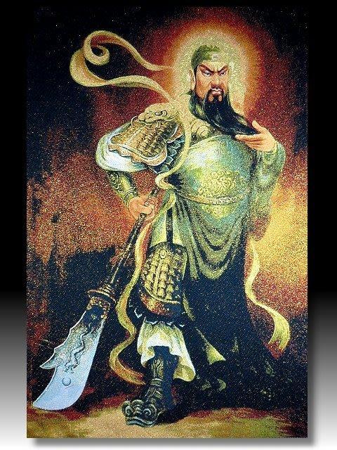【 金王記拍寶網 】S1369  中國西藏藏密佛像刺繡唐卡 關聖帝君 武關公 刺繡 (大張) 一張 完美罕見~