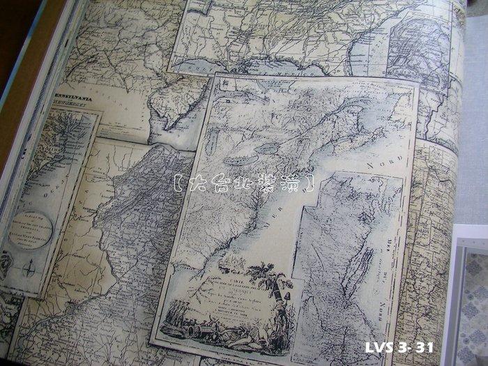 【大台北裝潢】LVS3進口平滑面純紙壁紙* 海洋風 航海地圖(3色) 每支1800元