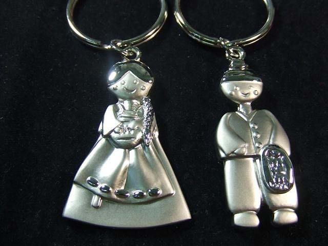 ☆創意小物店☆情侶鑰匙扣 (韓服情侶) 鑰匙圈/創意可愛金屬鑰匙圈 時尚造型個性飾品