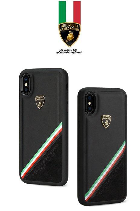 【義大利正品】藍寶堅尼Lamborghini授權iPhone XS MAX頂級麂皮手機殼