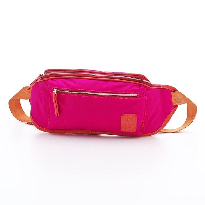 ◎BagTown◎驚艷街頭風格【PORTMAN】時尚繽紛尼龍腰包(桃紅色) PM142125