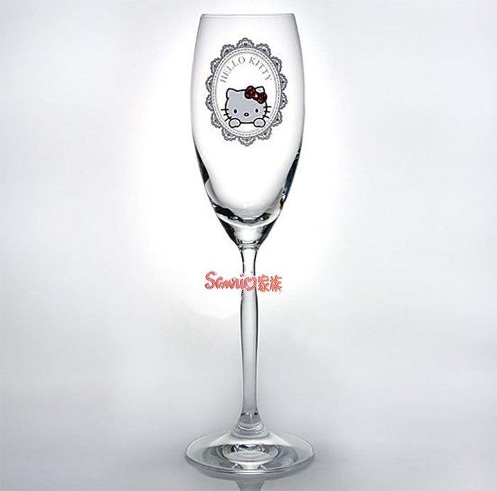 《東京家族》現貨Hello Kitty 凱蒂貓 日本限定SWAROVSKI 施華洛世奇趴姿蕾絲高腳杯