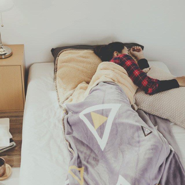 睡袋 幾何 法蘭絨羊羔絨睡袋毯(1.3kg)-絲薇諾