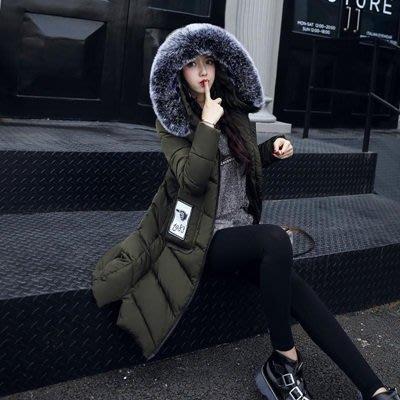 羽絨外套 連帽夾克-長款時尚大口袋毛領女外套4色73pa6[獨家進口][米蘭精品]