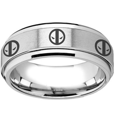 coi jewelry tungsten carbide deadpool wedding band ring 戒指 all sizes