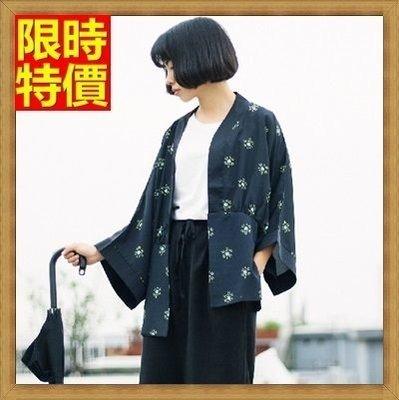 和服 外套 和風 防曬衣-寬鬆雪紡小雛菊印花罩衫小外套68af17[獨家進口][米蘭精品]