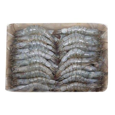 美兒小舖COSTCO好市多線上代購~Premium Choice 冷凍帶殼帶尾生白蝦(3公斤/盒)