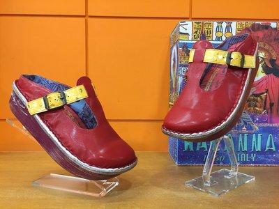 【阿典鞋店】**Macanna**麥坎納專櫃~鬱金香系列~炫彩~全新全牛皮手工縫製氣墊鞋034170