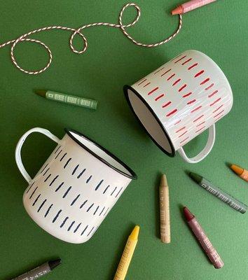 *COSY CORNER* 日本 AXCIS-Homestead 琺瑯 復古風格 水杯/馬克杯/食器/容器 線條 赤 紺