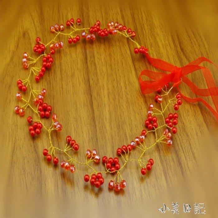 手工日系韓版婚紗花環頭飾髪帶 YY332