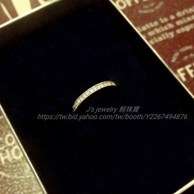 日本訂製18k金鑽石戒指 珠邊線戒 tiffany agete 輕珠寶風格