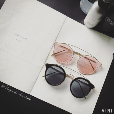 VINI 新款正韓復古簡約個性圓框太陽眼鏡男 網紅同款開車墨鏡女潮