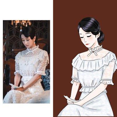 雖然是精神病但沒關係徐睿知高文英同款白色蕾丝上衣半身裙子套装
