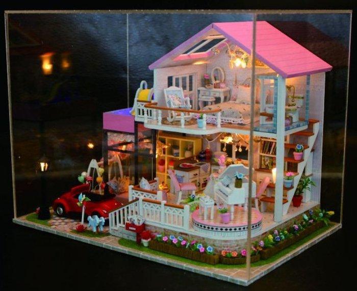 手巧家 DIY袖珍屋_甜蜜香氣 娃娃手做玩具迷你手工動手做模型創意禮物節慶女友情人節生日禮物浪漫小物