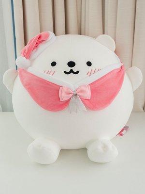 INS網紅公仔熊超級胖冰島之戀北極熊毛絨玩具公仔圣誕禮物