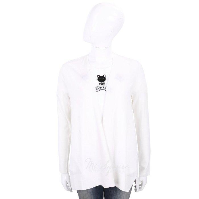 米蘭廣場 ALLUDE 100% 喀什米爾純色極簡針織羊毛罩衫 1740233-20