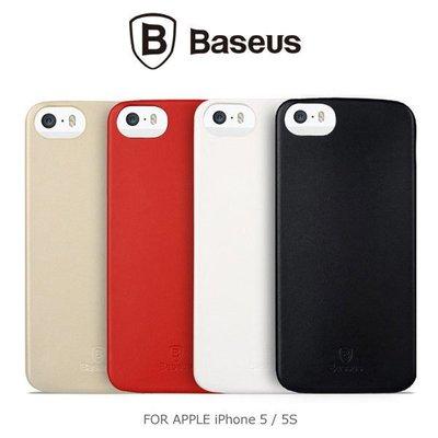*PHONE寶*BASEUS 倍思 Apple iPhone 5/5S 薄客系列皮質背蓋 保護殼 止滑殼