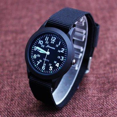 YEAHSHOP 手錶小男孩防水帆布手錶韓國版石英中兒童錶小學生數字腕錶男童潮腕錶313666Y185