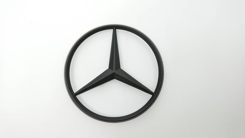 易車汽配 賓士 Benz 星標 10公分 改裝 消光黑 後車廂標誌 logo mark