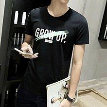 [K-822]潮流男款~~^^Grow up!帥氣短袖T夏款上衣(四色)