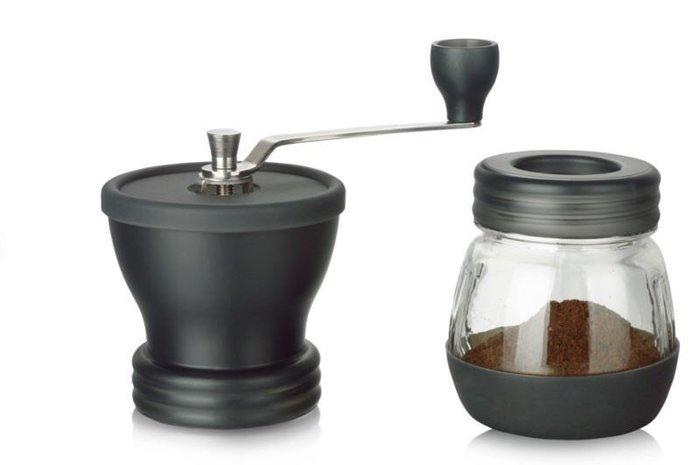 手搖磨豆機-陶瓷刀片 AKIRA GCM-1 正晃行 防滑 防水 密封罐式手搖磨豆機(黑色)--良鎂咖啡精品館