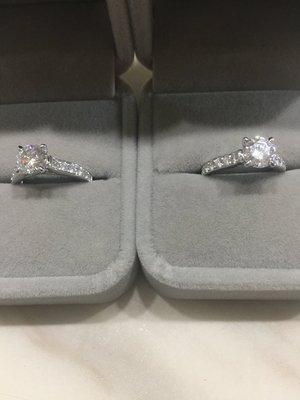 現貨不必等-ISBL經典系列 1克拉 18K金鑽石戒指 (莫桑石、摩星鑽、美神來 生日禮物 定情 鑽石品質)